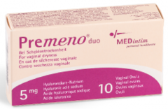 Premeno Duo 10 Vaginal Ovules for vaginal dryness and healing