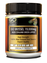 GO Healthy NZ Green Lipped Mussel 19,000mg 300 Capsules
