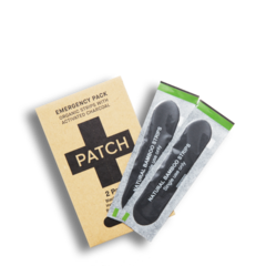 PATCH Charcoal Adhesive  Strips - Emergency Twin Pack