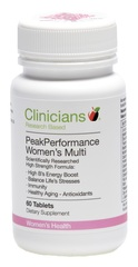 Clinicians Peak Performance Women's Multi 60 capsules