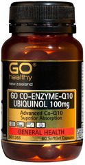 Go Healthy GO CO-ENZYME Q10 UBIQUINOL 100mg 60 capsules