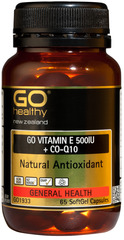 Go Healthy GO VITAMIN E 500IU + CO-Q10 65 capsules