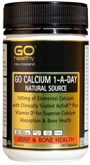 Go Healthy GO CALCIUM 1-A-DAY 120 capsules