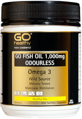 Go Healthy GO FISH OIL 1,000mg 220 capsules