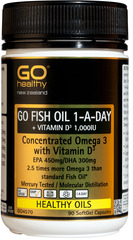 Go Healthy GO FISH OIL 1-A-DAY + VITAMIN D3 1,000IU 90 capsules
