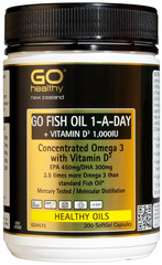 Go Healthy GO FISH OIL 1-A-DAY + VITAMIN D3 1,000IU 200 capsules