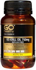Go Healthy GO Krill Oil 750MG Reflux Free 30 capsules