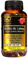 Go Healthy GO Krill Oil 1,500MG 1-A-DAY SUPER STRENGTH 60 capsules