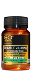 Go Healthy GO GARLIC 20,000mg Capsules 30