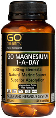 Go Healthy GO MAGNESIUM 1-A-DAY 60 capsules