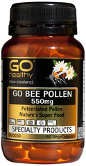 Go Healthy GO BEE POLLEN 550mg 60 capsules