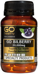 Go Healthy GO BILBERRY 20,000mg Capsules 60