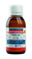 Ethical Nutrients Hi-Strength Liquid Fish Oil for Kids (Yummy Orange) 90 ml