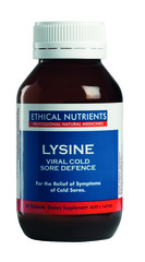 Ethical Nutrients Lysine Viral Cold Sore Defence 60 Tablets