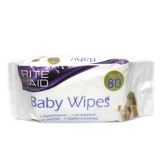 Rite Aid Baby Extra Thick Baby Wipes 80's x4