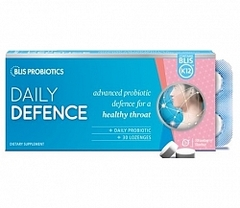 Blis Daily Defence with BLIS K12 - Strawberry 30 lozenges