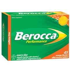 BEROCCA PERFORMANCE EFFERVESCENT TABLETS ORANGE 45