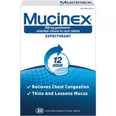 Mucinex Expectorant 20 tablets