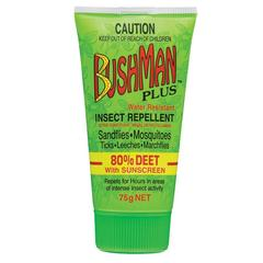 Bushman Plus Insect Repellent 80% Deet with Sunscreen 75g