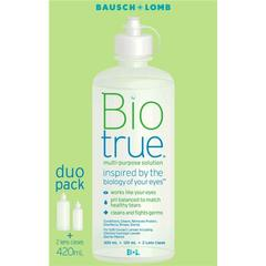 Bausch & Lomb Bio True Duo Pack 420ml **Super Special**