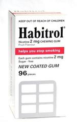 Habitrol 2mg Nicotine Gum 96 pieces fruit