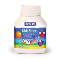 Bioglan Kids Smart Omega-3 Fish Oil Trio of flavours 60 chewable capsules