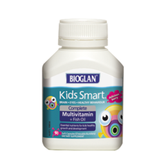 Bioglan Kids Smart Complete Multivitamin + Fish Oil 50 chewable capsules