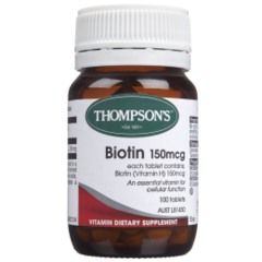 THOMPSONS BIOTIN 150 MCG 100 TABS