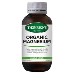THOMPSONS ORGANIC MAGNESIUM 120 TABS