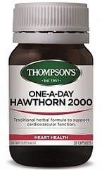 THOMPSONS ONE-A-DAY HAWTHORN 2000mg 30 CAPS