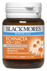 Blackmores Echinacea ACE + Zinc Tabs 30