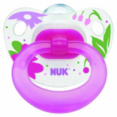 Nuk Silicone Soother - asstd. prints - size 2 - single