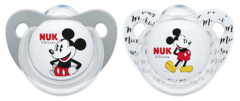 Nuk Silicone Soothers - Mickey - 0-6 Months - 2pk