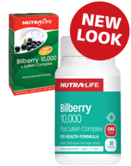 NutraLife Bilberry 10,000 & Lutein Comp Tabs 30s