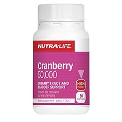 NutraLife Cranberry 50,000 Caps 50s
