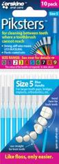 Piksters Interdental Brush Blue 0.55mm 10 pack Size 5 Tapered
