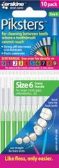 Piksters Interdental Brush Green 0.6mm 10 pack Size 6 Tapered