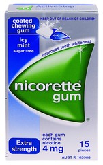NICORETTE ICY MINT 4mg Gum 15 pieces