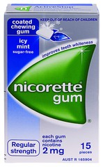 NICORETTE ICY MINT 2mg Gum 15 pieces