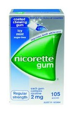 NICORETTE ICY MINT 2mg Gum 105 pieces