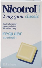 Nicotrol Classic 2mg Gum 105 pieces